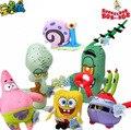 cartoon figures SpongeBob ,Patrick,Eugene H. Krabs,Sheldon J. Plankton,Squidward Tentacles,Gary plush toy , birthday gift w2036