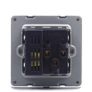 Image 5 - Biały elektryczny ścienny panel gniazda 2 szpilki 3 otwory z 2 USB do ładowania gniazdo zasilania CE RoHs zatwierdzone
