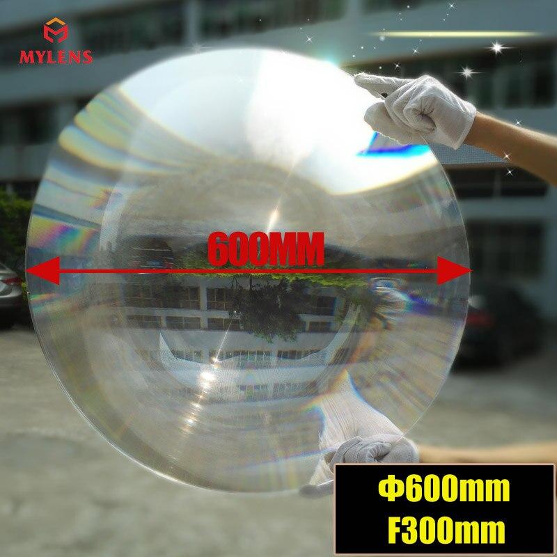 600 мм диаметр большой круглый PMMA Пластиковый Солнечный френель конденсационный объектив фокусное расстояние 300 мм плоский увеличитель, солнечный концентратор