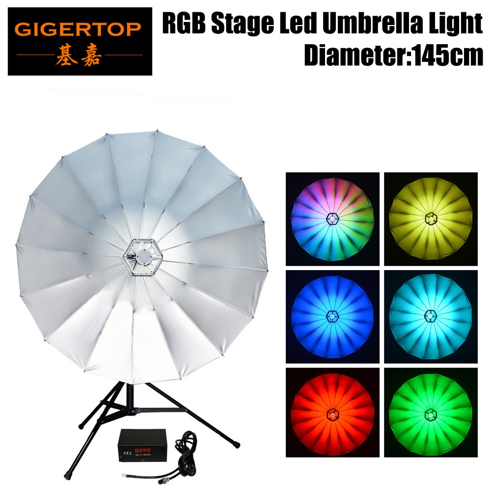 New Arrival 34 Inch Umbrella Light For Photography,Studio&Stage Application,114pcs 0.2W RGB LEDs,Has Rainbow,Color Chasing,Fade