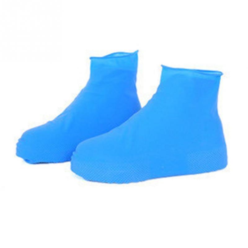 Womans Mens Anti-Slip Reusable Rain Shoe Covers Latex Waterproof Rainproof Snowproof Sandproof Unisex Shoes Overshoes BootWomans Mens Anti-Slip Reusable Rain Shoe Covers Latex Waterproof Rainproof Snowproof Sandproof Unisex Shoes Overshoes Boot