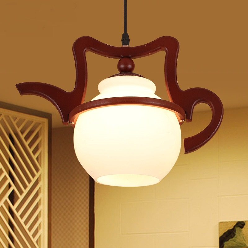 Modern simple Pendant Lights Chinese pendant lamp Southeast Asia Japanese style study lamp balcony lighting bar teapot LU816325 southeast asia style hand knitting bamboo art pendant lights modern rural e27 led lamp for porch