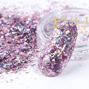 Image 4 - 1 ชุดอลูมิเนียม Rose Gold Sequins เล็บ Art Glitter Flake ผงเจล UV เจลเล็บ Paillette ผสมตกแต่งเล็บ CH1506 05