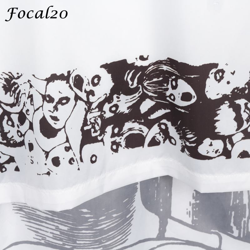 Focal20 Streetwear Junji Itou Manga Print Oversize Women Hooded Jacket Anime Hoodie Pullover Jacket Coat Outwear Streetwear 9