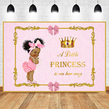 Royal Baby Shower Backdrop Little Princess Pink Bow Photography Background Royal Pink Girl's Baby Shower Party Banner Backdrops цена в Москве и Питере