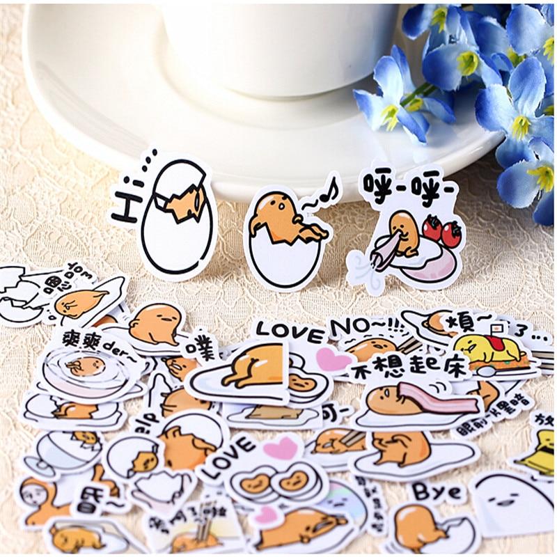 40pcs Creative Kawaii Cute Self-made  Egg Food Gudetama Scrapbooking Stickers /decorative Sticker /DIY Craft Photo Albums