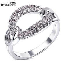 Dreamcarnival 1989 encadernação sexy oco anel para jóias femininas grande desconto cupom ródio ouro cor anillos mujer bagues femme