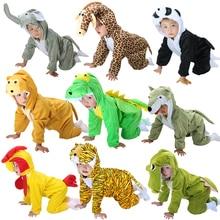 New Baby Boys Girls Pajamas warm Autumn Winter Children coral fleece cute animal Stitch panda cartoon for Kids pijamas