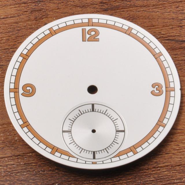 O envio gratuito de 38.9mm Branco Dial Ajuste ETA 6498 Movimento st36 Homens Relógios, As Peças do relógio N3