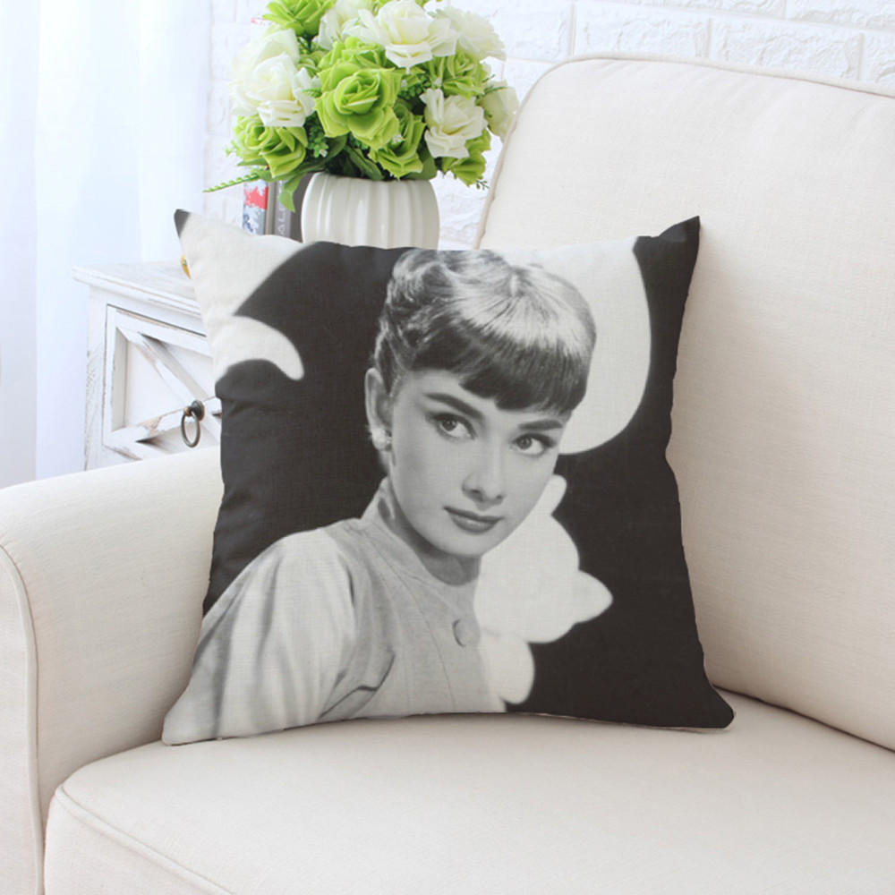BZ091 Character Image Series Pillowcase Pillow Cover Washable Cotton Pillow Case Home Textile 45cm 45cm 18 quot x18 quot Inch in Pillow Case from Home amp Garden