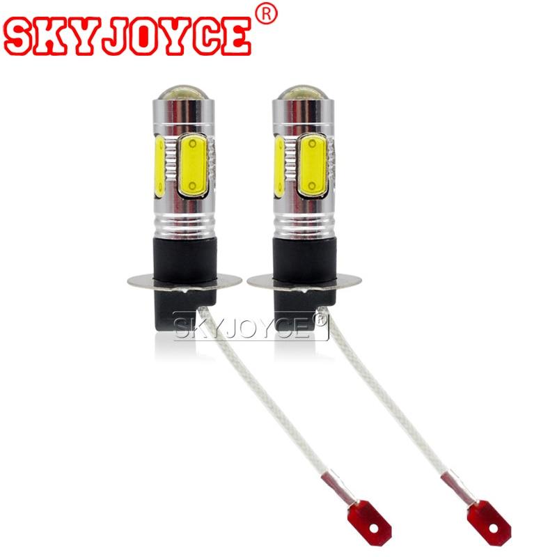 SKYJOYCE 2PCS Parking H3 Led High Power Led Fog Lamp Bulb Headlight 7.5W 12V White 6500K Led Conversion Light Kits Accessories