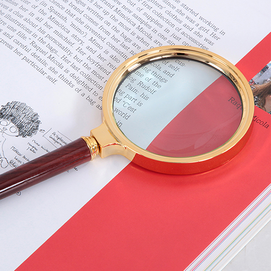 60mm 10X Magnifying Glass Portable Loupe Handheld Magnifier for Reading Jewelry Mini Pocket Magnifier new universal desktop magnifier usb with led light 10x for maintenance reading micro engraving magnifying glass
