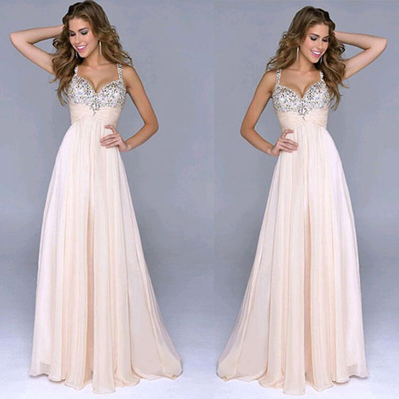 Trendy Women Lady Prom Ball Sequins Wedding Evening Party Formal Long Dress