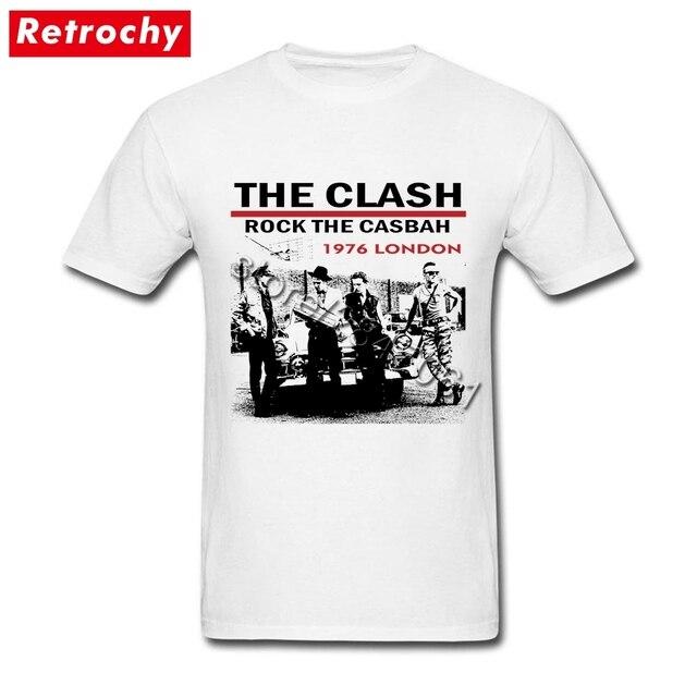 d9e2b2ac6eb UK PUNK Band Rock T Shirts Young Men 1976 London the clash Tee 80s  FashionCotton T-Shirts Party Large and Tall