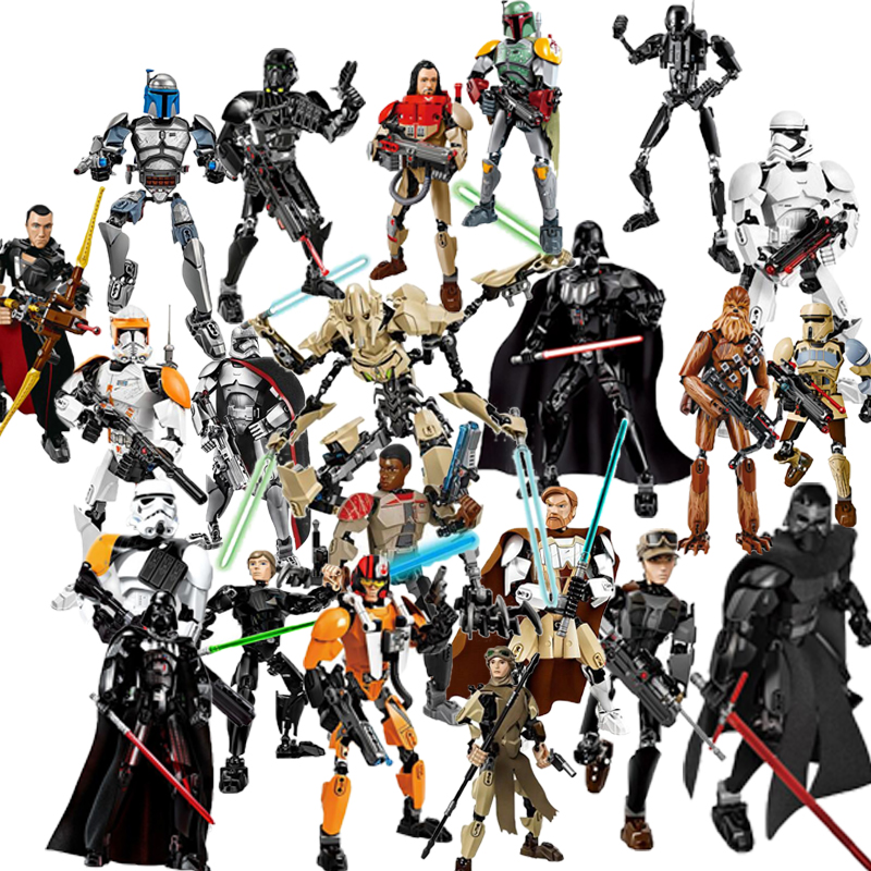 32 style KSZ Star Wars Rogue One Toys Jango Phasma Jyn Erso K-2SO Darth Vader General Figure toy building LegoINGlys blocks Toys