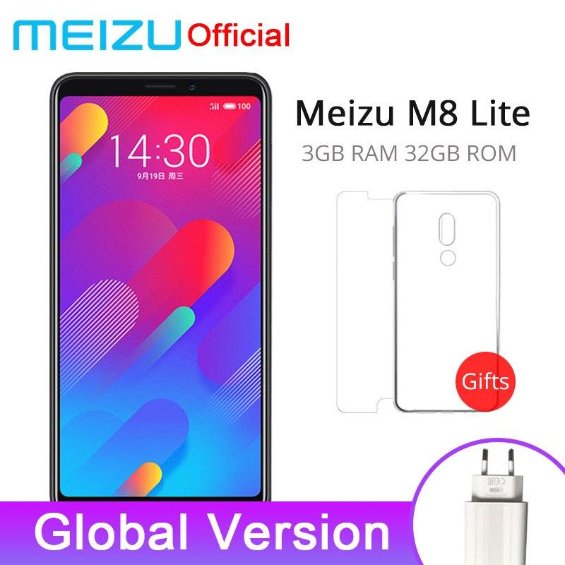 Official Global Version Meizu M8 lite 3GB 32GB V8 Lite 4G LTE Mobile Phone Quad Core 5.7'' 3200mAh Rear 13.0MP Fingerprint ID