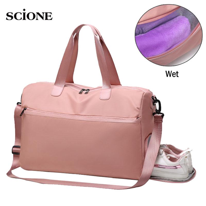 Fitness Gym Bag Sac De Sport Bags Dry Wet Handbags Swimming For Women Shoes Tas Travel Training Waterproof Bolsa XA68A