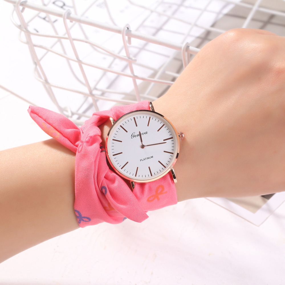 Best Selling Fashion Geneva Women Watches Cloth Bag Bracelet Watch Ladies Luxury Brand Quartz Wristwatch Relogio Feminino #W
