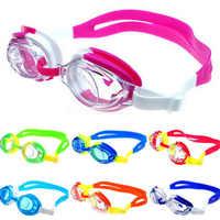 Bunte Einstellbare Kinder Kinder Wasserdichte Silikon Anti Fog UV Schild Schwimmen Gläser Goggles Brillen Brillen mit Box