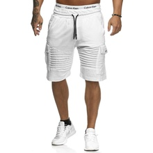 Shorts spring and summer men's sports shorts large size S-XXXL casual striped pockets Slim drawstring five training shorts цена в Москве и Питере