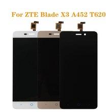 Für ZTE BLADE X3 A452 t620 LCD display und touch screen digitizer komponente ersatz für ZTE A452 LCDFree verschiffen + werkzeuge