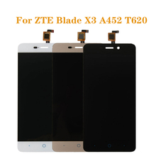 цены For ZTE BLADE X3 A452 t620 LCD display and touch screen digitizer component replacement for ZTE A452 LCDFree shipping+tools