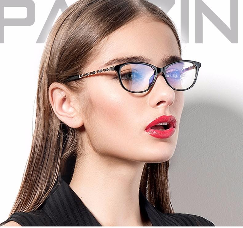 d89a56b241 Parzin Plain Glasses Metal Hinge Mirror Women Eyeglasses Frame ...
