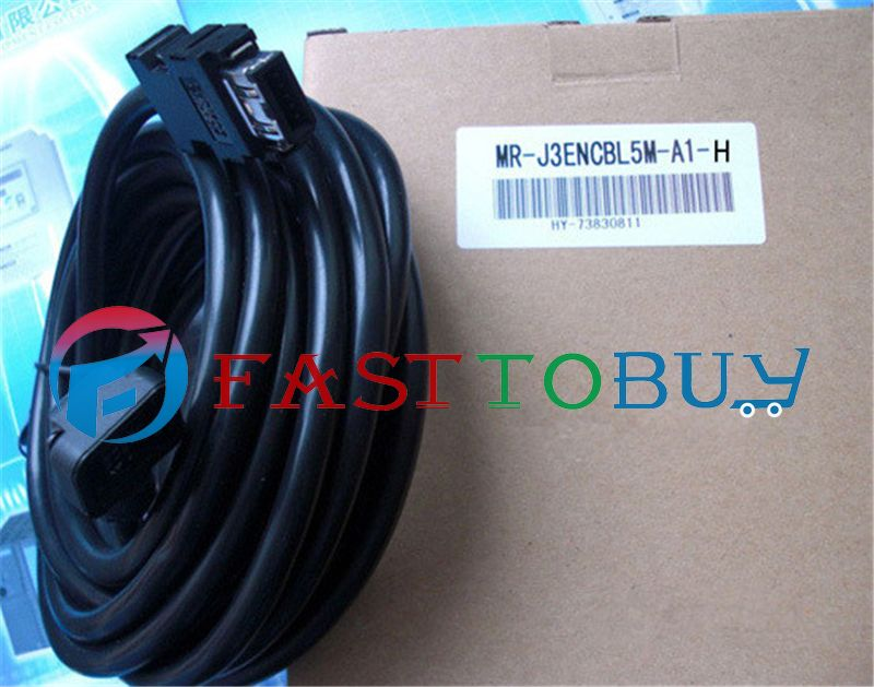 NEW MR-J3ENCBL5M-A1-H Compatible Mitsubishi Servo Encoder Cable 5M One Year Warranty new mr bks1cbl5m a1 l compatible mitsubishi servo brake cable 5m year warranty