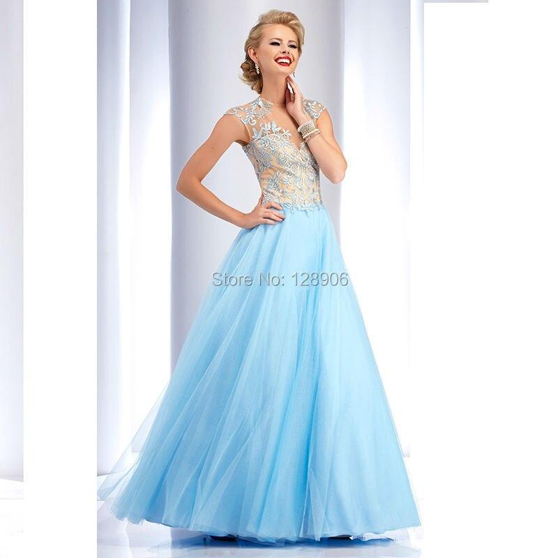 Baby Blue Prom Dresses Photo Album - Reikian