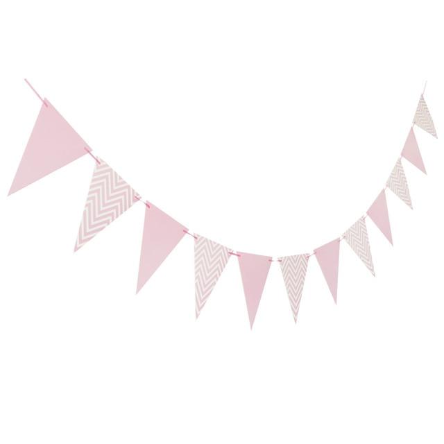 Verjaardag Bruiloft Decoraties Hot stamping Goud Roze Papier Streep Papier Cup Plaat Vlag Voor kids Baby Shower Jongen Meisje gift 1