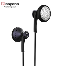 Langsdom T16 Ear Hook HiFi in Ear Earphone Sport Earphones Headphones for Running with Cotton Eartips Headsets with Microphone