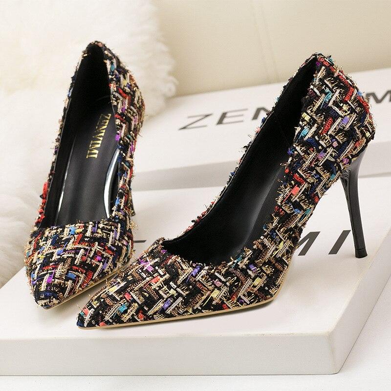 Parfum Hauts Style Petit Noir 6289 Zwm Talons Chaussures Blanc qVGUpLSzM