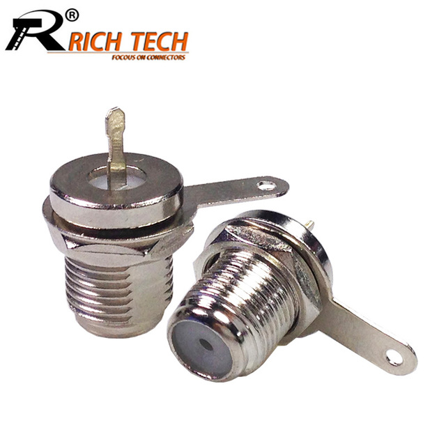 10pcs/lot F Connector F-type Female Bulkhead Jack Adapter RF Coaxial Coax Connector F Jack Socket Wholesales
