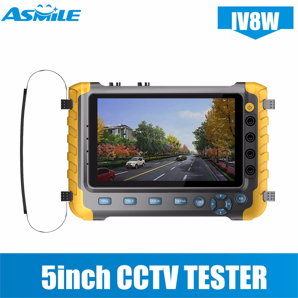 2018 Upgraded IV8W 5 inch CCTV Tester Monitor 5MP 4MP TVI AHD CVI CVBS Security Camera Tester Support PTZ Audio VGA HDMI Input upgraded 4 in 1 5mp ahd tvi 4mp cvi analog security camera tester iv8w 5 inch cctv tester monitor vga hdmi input utp cable test