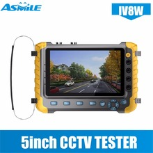 2018 Upgraded IV8W 5 inch CCTV Tester Monitor 5MP 4MP TVI AHD CVI CVBS Security Camera Tester Support PTZ Audio VGA HDMI Input