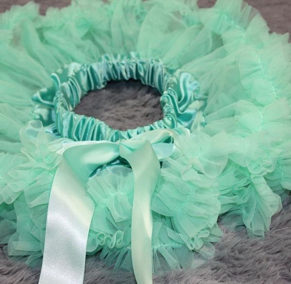 Пышная юбка для малышей Мягкая шифоновая Пышная юбка-пачка для малышей Юбка-пачка для маленьких девочек детская одежда юбка-пачка для новорожденных - Цвет: Turquoise