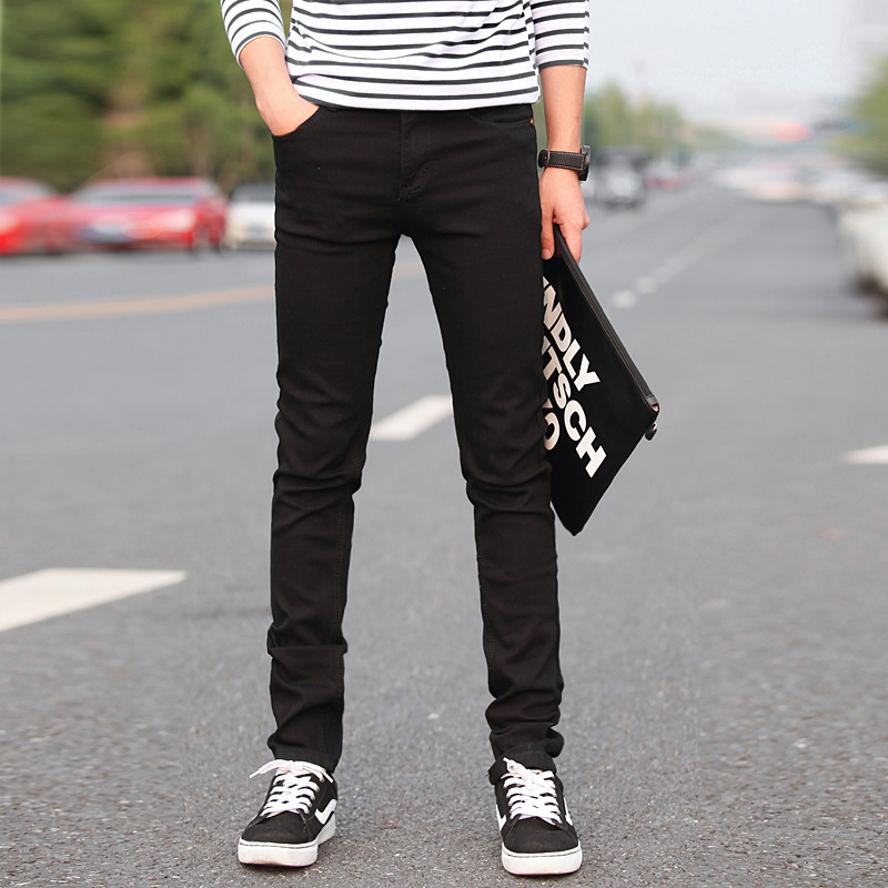 New Black   Jeans   Men New Designer Brand Ripped Skinny Slim Fit Pants 2019 Spring Casual Elastic Biker   Jeans   Plus Size
