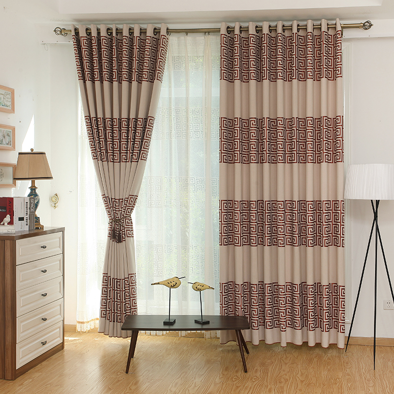 Custom Made Luxury Greek Key Voile Curtains With Lace Edge Tassels Modern  Chinese Style Tulle Curtains Living Room Drapes Gauze In Curtains From Home  ...