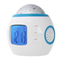 Music Starry Star Sky Projection Projector LED Digital Alarm Clocks Calendar Thermometer Retail Package Best Gift