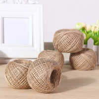 100m/Roll Natural Hemp Rope DIY Tag Label Hang Rope Wedding Woven Home Decor Twine Jute String Gardening Cord Craft Gift Packing