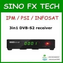 Venta caliente IPM/PSI/INFOSAT 3in1 DVB-S2 receptor 350 canales de C/Ku satélites de banda