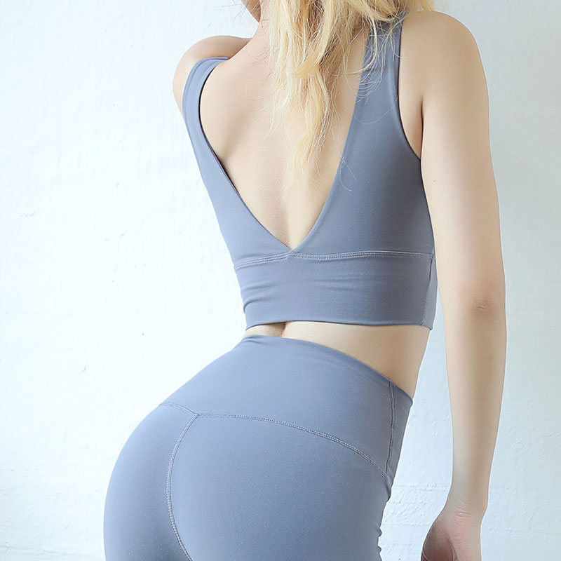 Sports activities Bra Backless In V-Formed Athletic Yoga Put on Nylon health Fitness center Working Bra Horny Tremendous Smooth Sports activities Clothes For Girls Sports activities Bras, Low cost...
