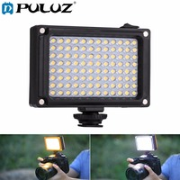 PULUZ 96 LEDs Photography Video & Photo Studio Light with White & Orange Magnet Filters Light Panel for Canon,Nikon,DSLR Cameras