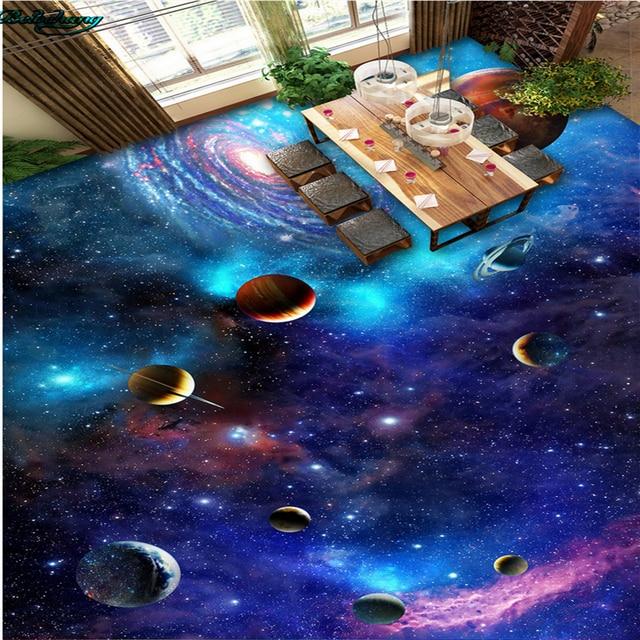 Perfekt Beibehang Große Eigene Bodenbelag Universum Galaxy Stern 3D 3D Malerei  Bodenfliesen Home Dekoration Malerei