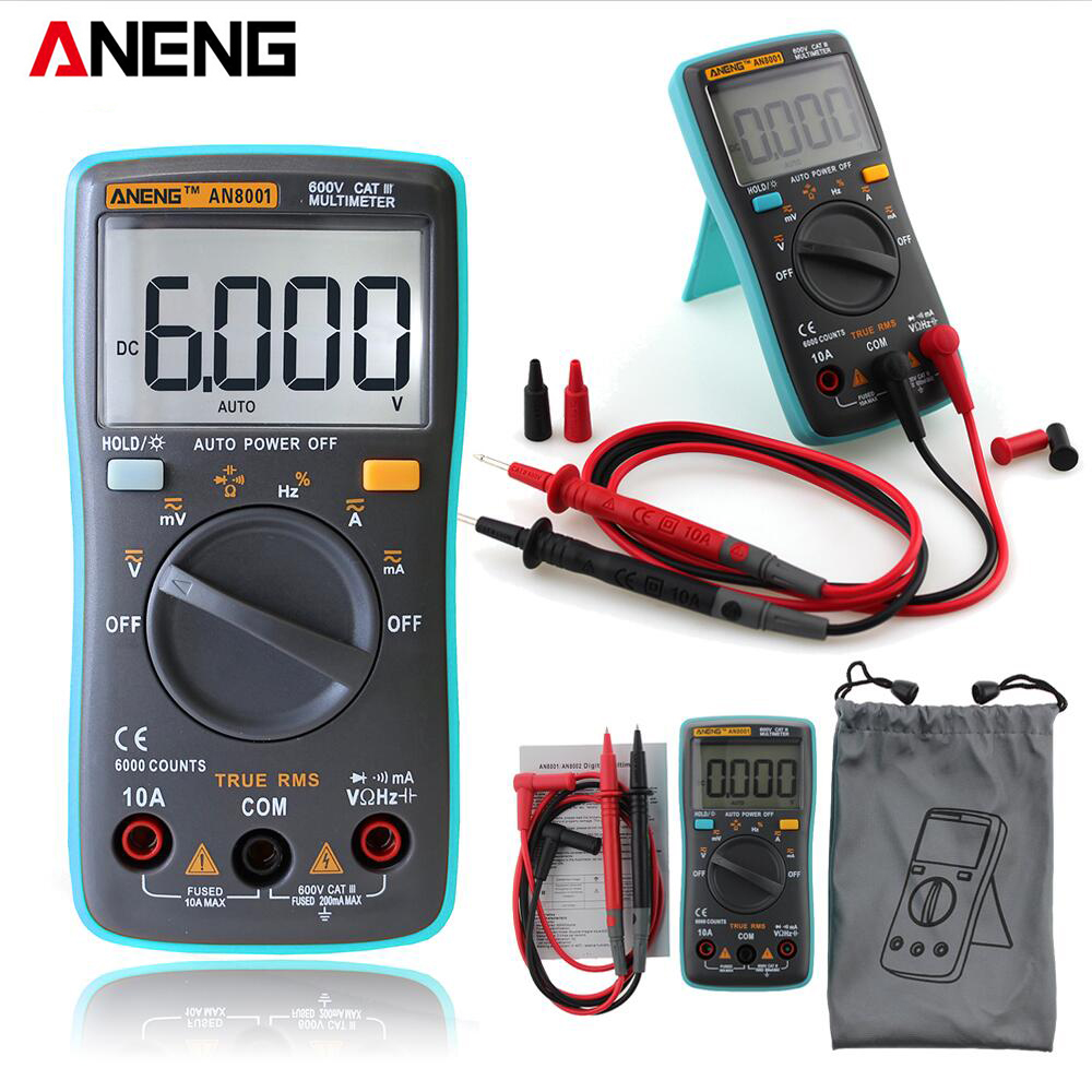 ANENG Professional Practical AN8001 Backlight Digital Multimeter 6000 Counts AC / DC Ammeter Voltmeter Ohm Portable Meter все цены