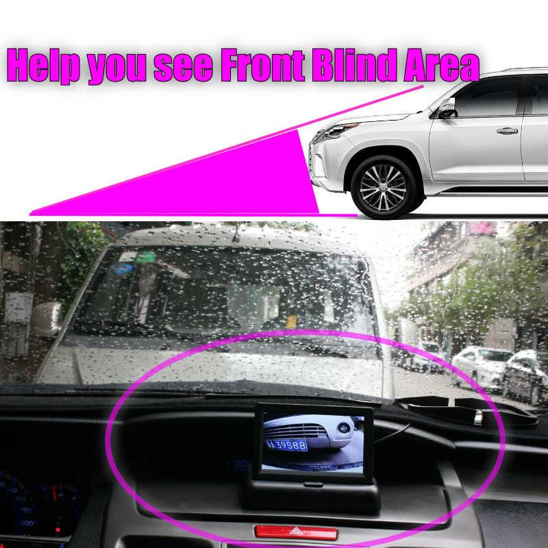 LiisLee przednia kamera przednia kamera Logo DIY ręczne sterowanie kanałem przednia kamera dla Hyundai Elantra AD 2016 2017 2018