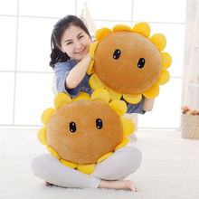 NEW Plush Cute Cartoon Helianthus Doll Toy Lovely Plant Vs Zombies Sunflower Sushion Pillow Kids Toys Christmas Gift