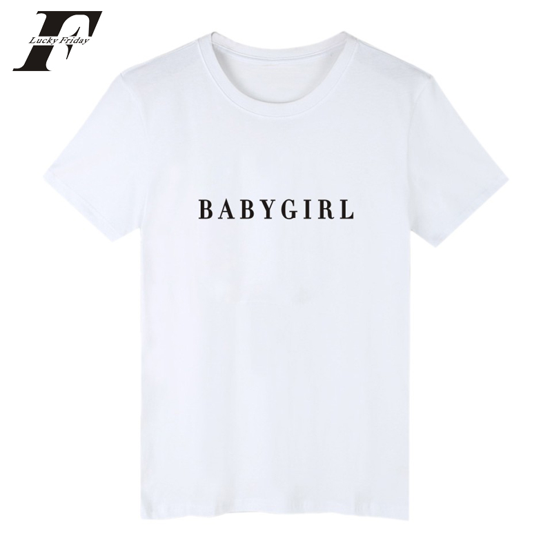 2017 kawaii BABYGIRL Cotton T Shirt Men Cotton Funny Short Sleeve T Shirt Men Slim Black Women womens clothing