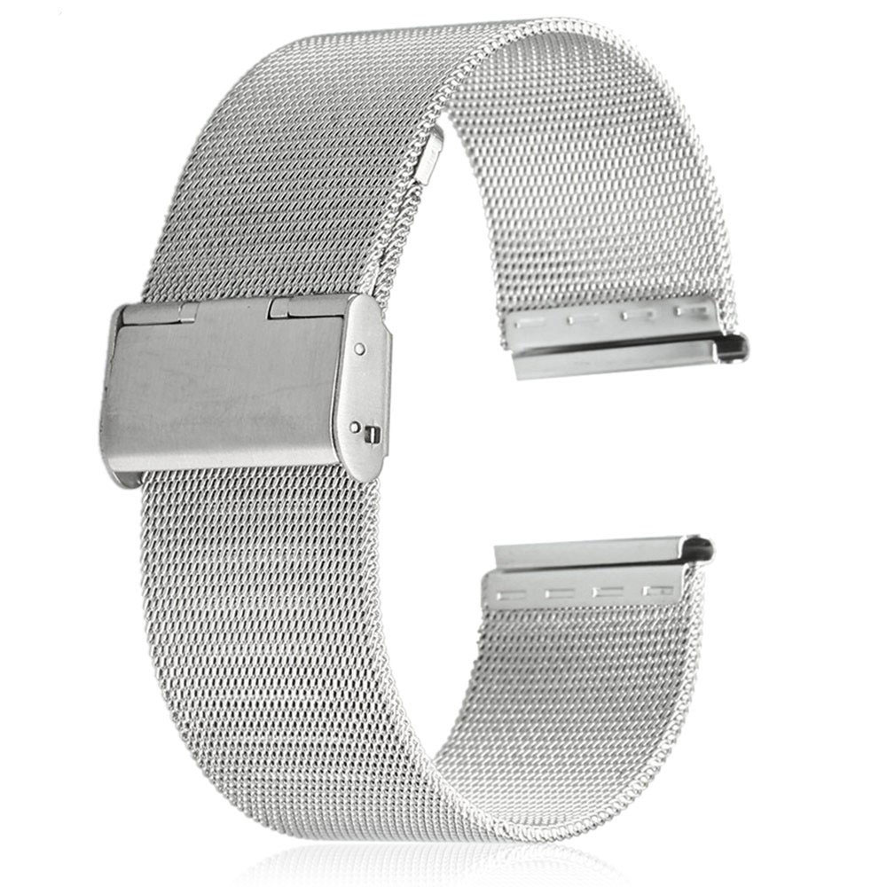 2017 New 18mm Stainless Steel Mesh Bracelet Strap Replacement Wrist Watch  Band For Men Women Silver