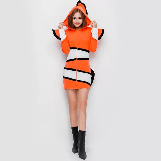 Online Shop Funny Clownfish Buffoon Fish Costume Adult Women Teen